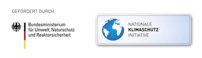 Logo des Bundesministerium für Umwelt, Naturschutz und Reaktorsicherheit und der Nationalen Klimaschutz Initiative©Nationale Klimaschutz Initiative