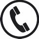 Das Symbolbild zeigt einen Telefonhörer in einem Kreis.©Stadt Friesoythe