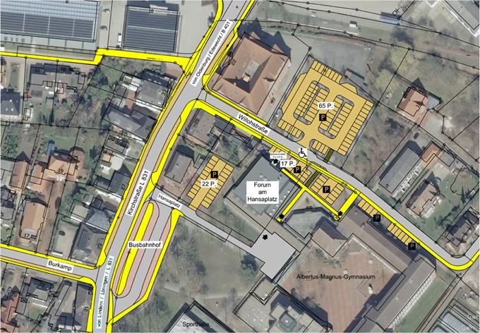 Parkmöglichkeiten beim Forum am Hansaplatz©Stadt Friesoythe