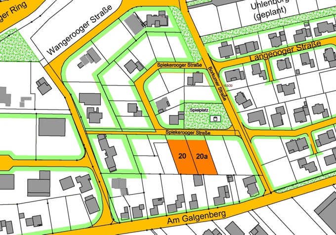 Baugebiet Spiekerooger Straße©Stadt Friesoythe